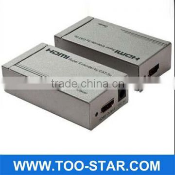 2013 Newest 1080P HDMI extender 60m by cat5 x1 Support 3D