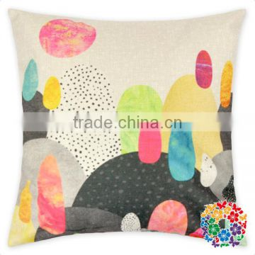 Swans Printed Square Shape Sofa Pillow Cover Wholesale Pillow Cases