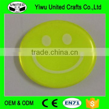 promo tinplate reflective badge with logo