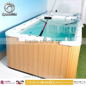 2016 Top quality fiberglass balboa control spa pumps acrylic luxury spa tub outdoor massage swim spa