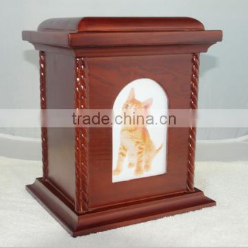 wooden photo frame funeral pet ashes urn china wholesale