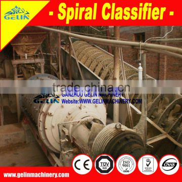 spiral classifier sand washing machine for hardrock gold processing