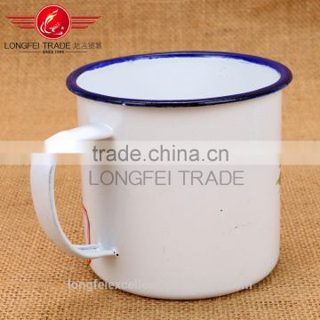 cheap white enamel camping mug wholesale