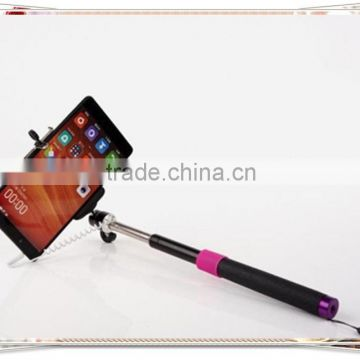 TMO-0202 wired monopod selfie stick headphone cable control , best selling monopod wired