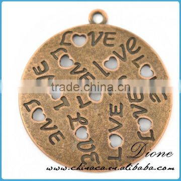 china wholesale name tag necklace metal pendants