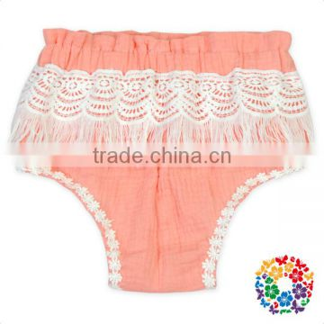Wholesale Cheap Price Girls Shorts White Lace And Tassel Ruffle Shorts