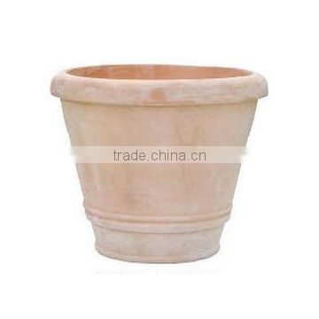 Painted/Washed Terracotta Pots, handmade clay pots for garden