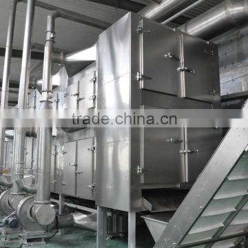 Turmeric / Curcuma longa Multiple layer continuous type mesh belt dryer