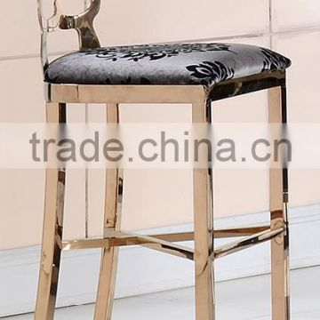 Wholesale bar stool chromed in golden color B151 G