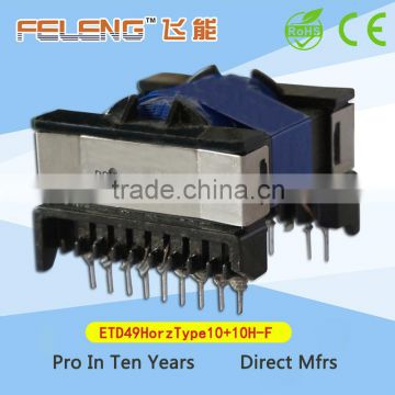 ETD49 High Frequency Transformer Horizontal Type