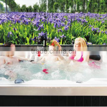 Europe luxury large plastic tubs hot outdoor Spa for adult (A870)
