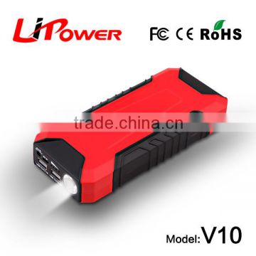 Auto external batteries power bank mini car jump starter with LED flashlight