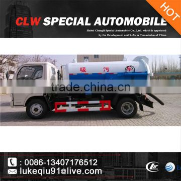 3000-5000L sewage fecal suction tanker vehicle for sales