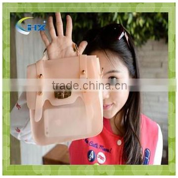 2014 latest candy color shoulder silicone handbag for ladies