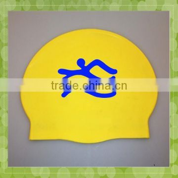 Funny silicone rubber swimming cap