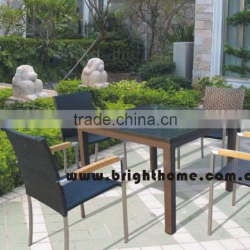 Chair and Table set BP-3001 PE rattan wicker Leisure Outdoor Products