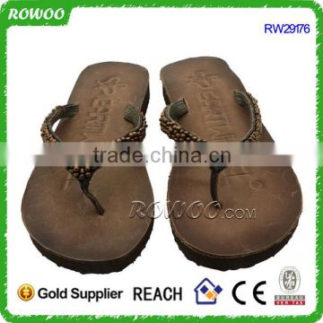 Low Price Leather Wholesale Ladies Women Sandals Flip Flops Designs