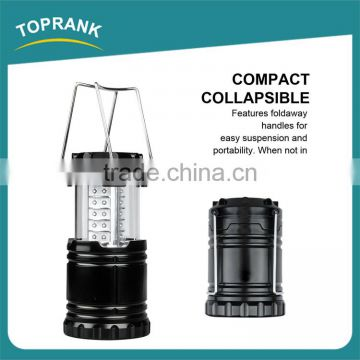 Ultra bright portable outdoor 30LED camping lantern black collapsible led camping light