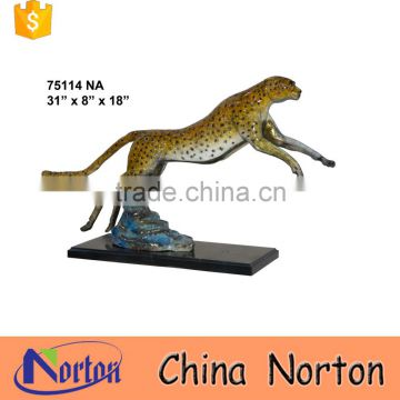 Forest Wildlife skipping panther bronze sculpture NTBA-C012Y