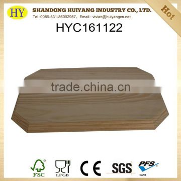 FSC natural unfinished custom pine wood carved painting board wholesale