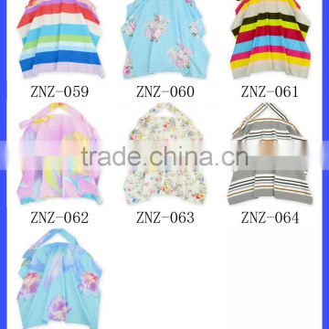 Fashion and breathable organic cotton breastfeeding nursing cover