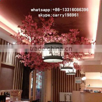 LXY072032 beautiful style wall decor metal artificial cherry blossom trees