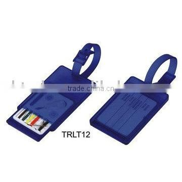 plastic luggage tag with sewing kit for promotional