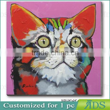 Hand Painted Abstract Butterfly Painting Pussy Cat Oil Painting