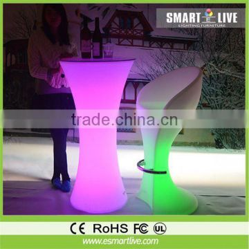 2013 artificial marble LED lighting bar counter; bar table furniture juice bar