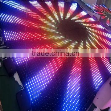 2017 How to make led display black and white curtains