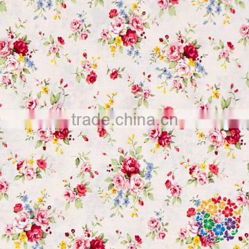 Floral printed cotton fabric factory wholesale garment fabric