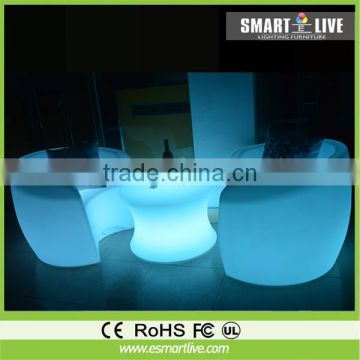 used beauty salon furniture remote control rechargeable illuminated led sofa