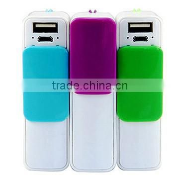 Best Quality Portable Power Bank Slide cover Power Bank 2600mAh