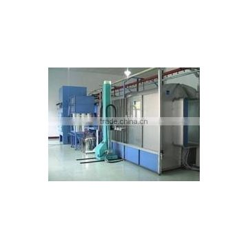 powder coating line equipment with sparying gun