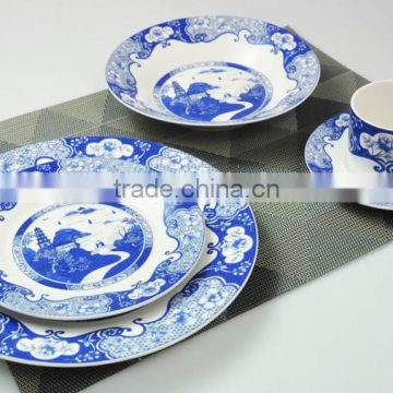 Promotional 20pcs porcelain cheap dinnerware set with Chinese style decal