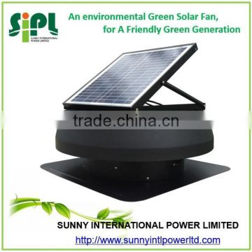 Solar air cooler rechargeable fan industrial roof Inbuilt Solar Panel Powered solar power roof fan