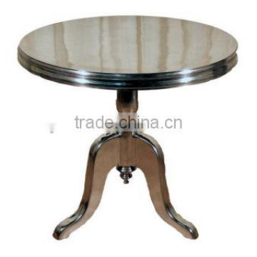 nickle plated metal coffee table