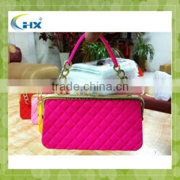 Factory price colorful lady silicone handbag
