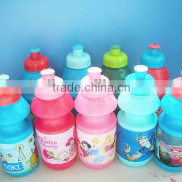 plastic 350ml PE water bottle for kids