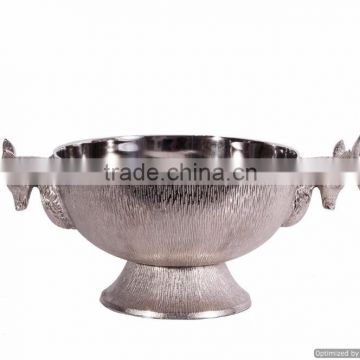 round metal shiny deer handle ice bucket