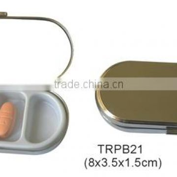 Wallet Pill Box With Mirror