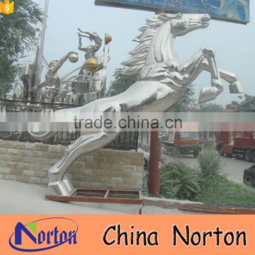 Modern large flying animal stainless steel outdoor horse sculpture NTS-016A