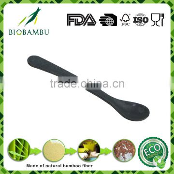 Biodegradable grateful best quality bamboo fiber black spoon
