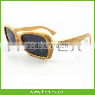 2015 Hot selling new style bamboo sunglasses/bamboo sunglasses polarized/HOMEX