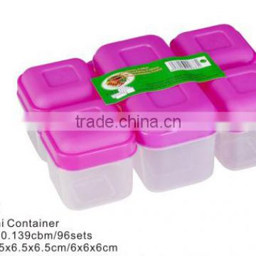 5pcs Mini Combine Plastic Food containers and meal prep container