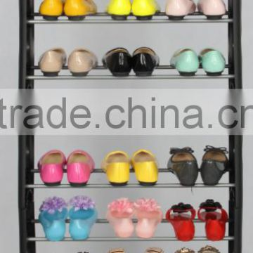 Wholesale 10 layers cheap stackable plastic shoe rack for 30 pair shoes                                                                         Quality Choice