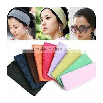 Elastic cotton terry headband