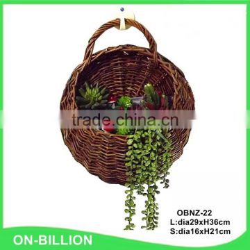 Home hanging decorative custom flower wicker basket