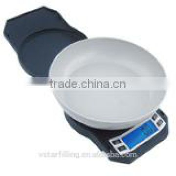 compact scale with big bowl kitchen scale portable scale