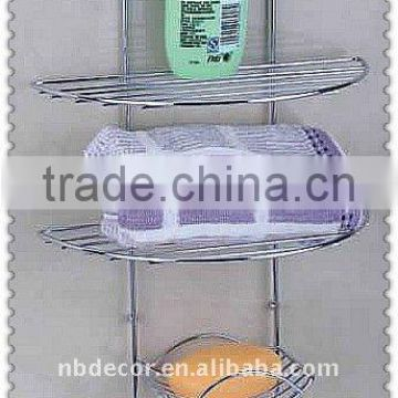 Hot sale chrome plating metal wire bathroom shelf